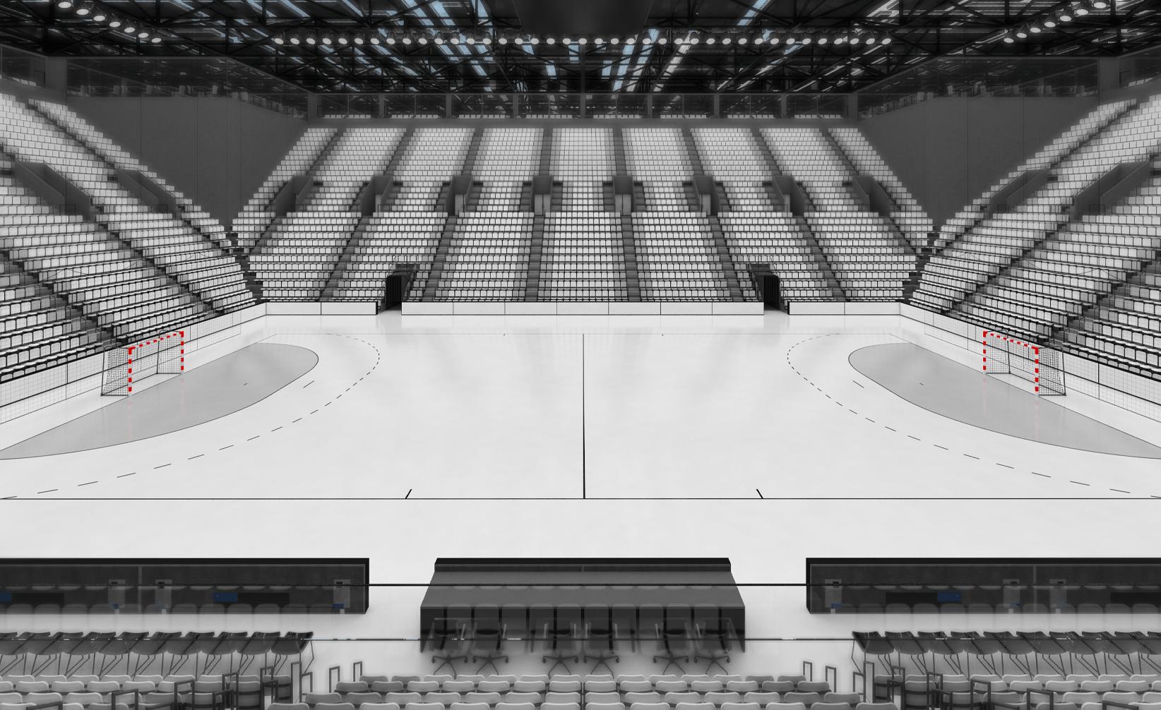 Simulateur de couleurs terrain de Handball