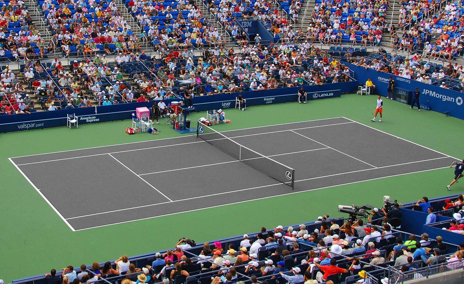 Simulateur de couleurs terrain de tennis