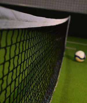 Kit filet de tennis en aluminium avec poteaux et sac de transport écoplas