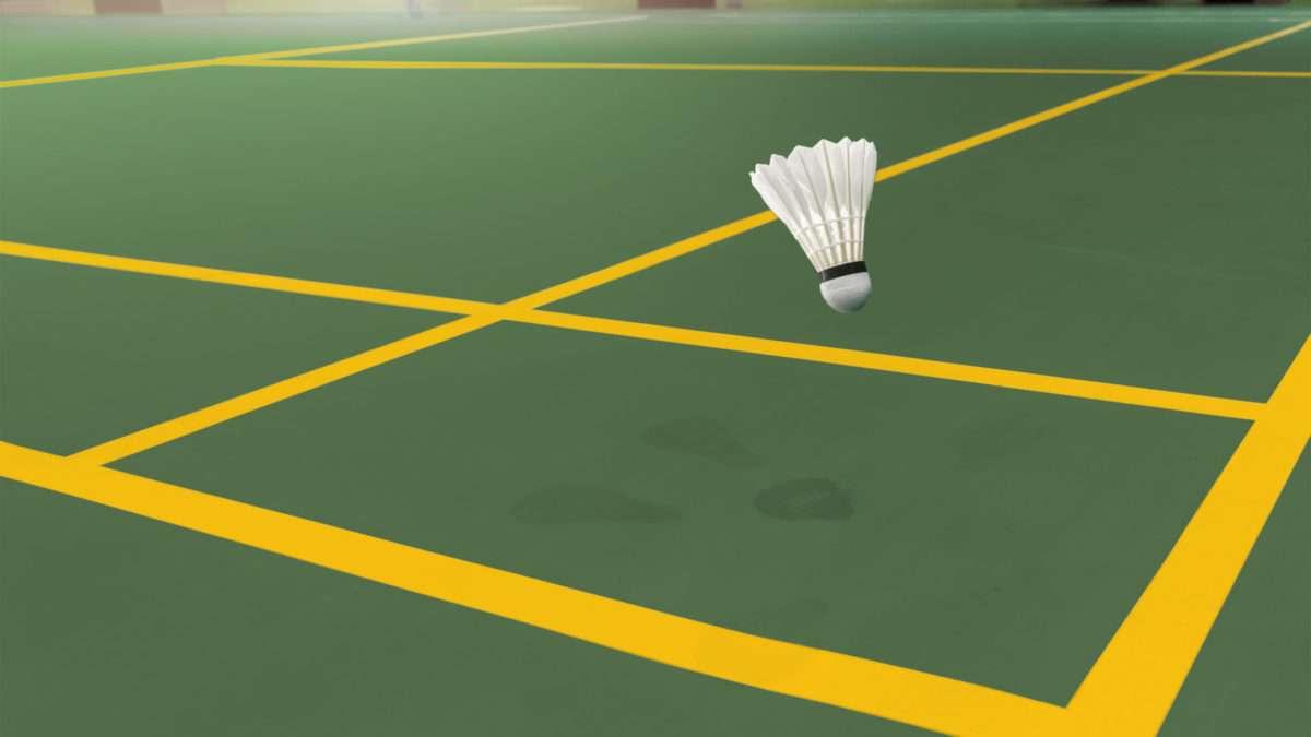 Rénovation d'un terrain de badminton en extérieur