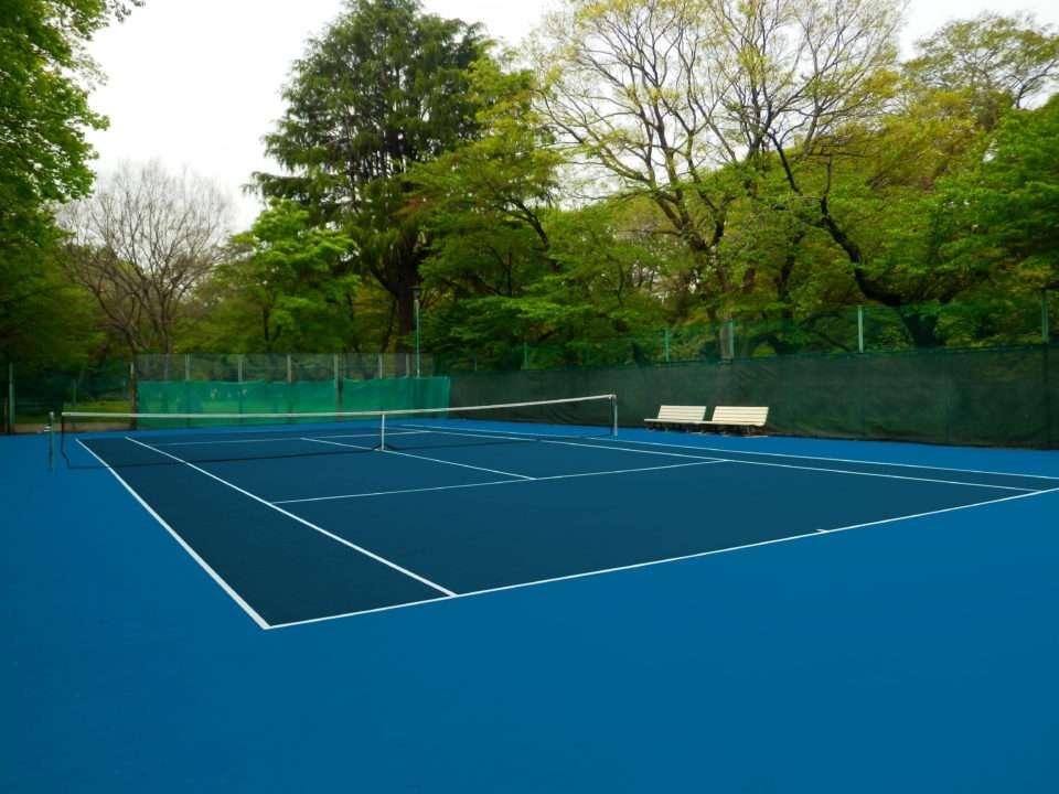 Réalisation court de tennis écoplas